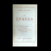 BAUDELAIRE Charles - Les Epaves